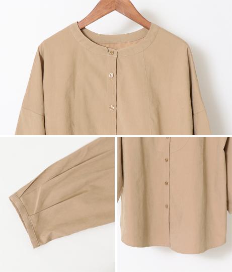 2WAYバンドネックシャツ(トップス/シャツ・ブラウス) | Factor=