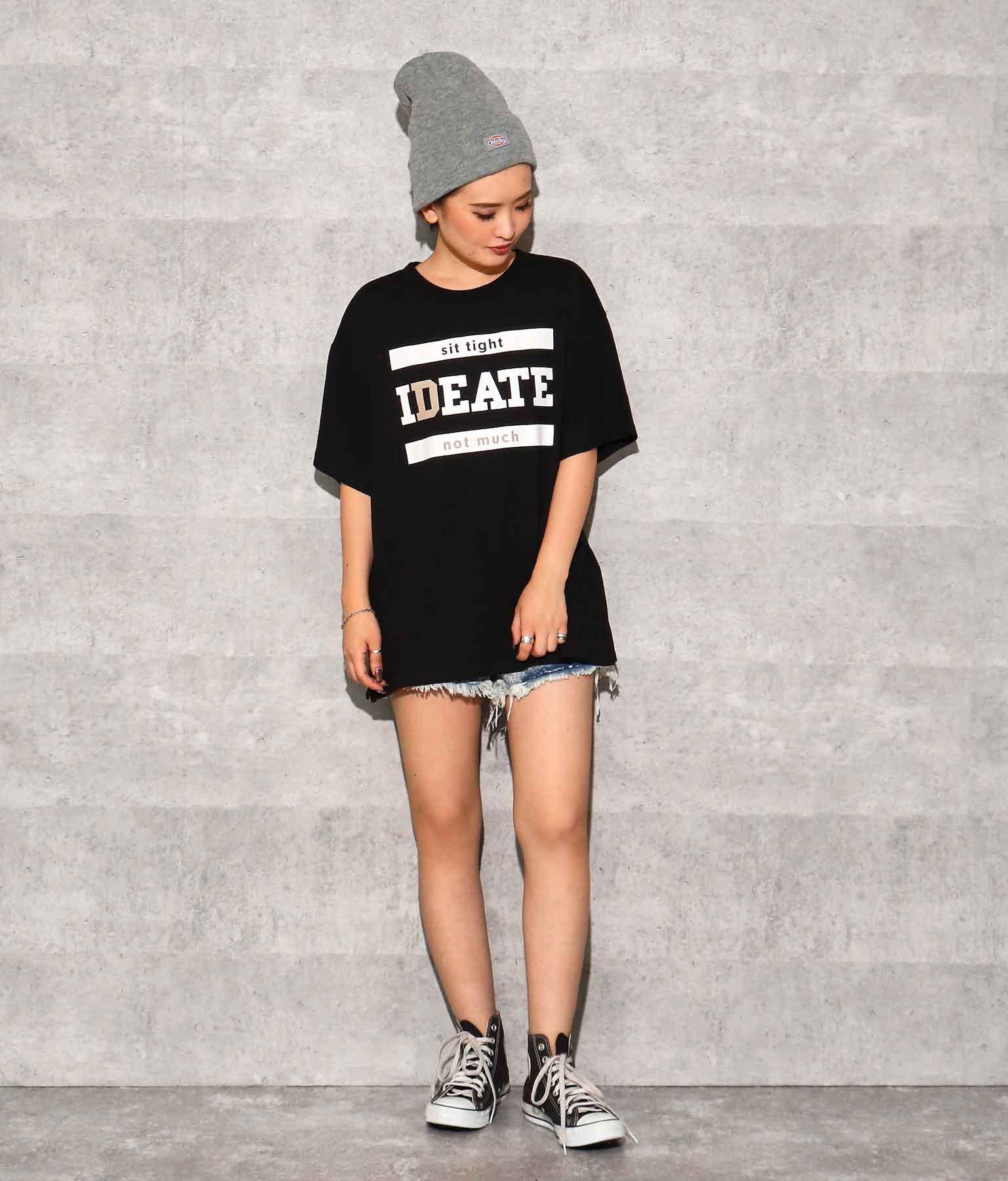 フロントプリントスリットTシャツ(トップス/Tシャツ) | ANAP