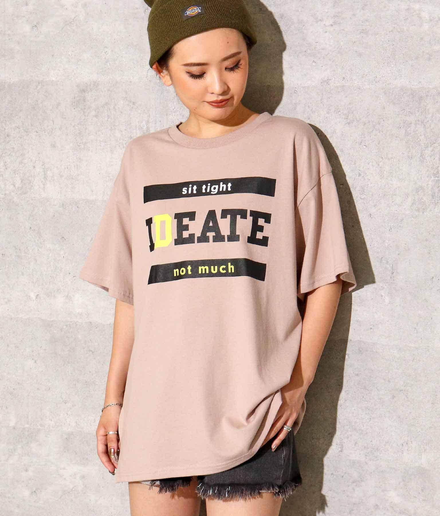 フロントプリントスリットTシャツ