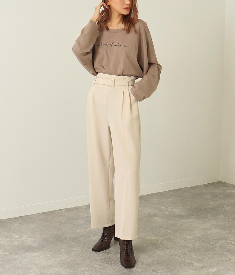 バックスリットプリントロンT(トップス/Tシャツ・ロングTシャツ) | ANAP