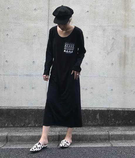 柄ポケットロングスリーブワンピース(ワンピース・ドレス/ロングワンピ) | ANAP
