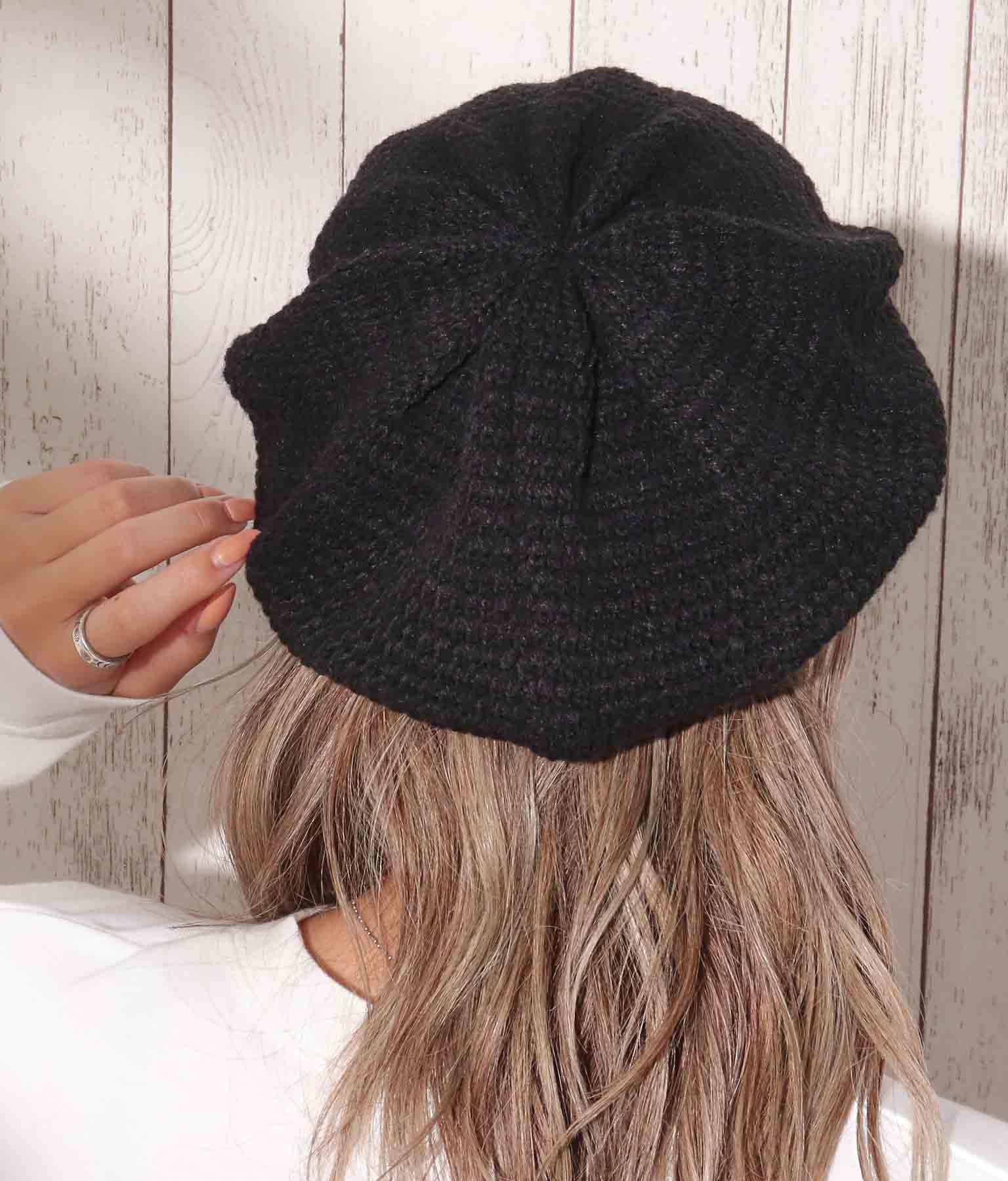 ニットベレー帽(ファッション雑貨/ハット・キャップ・ニット帽 ・キャスケット・ベレー帽) | anap mimpi
