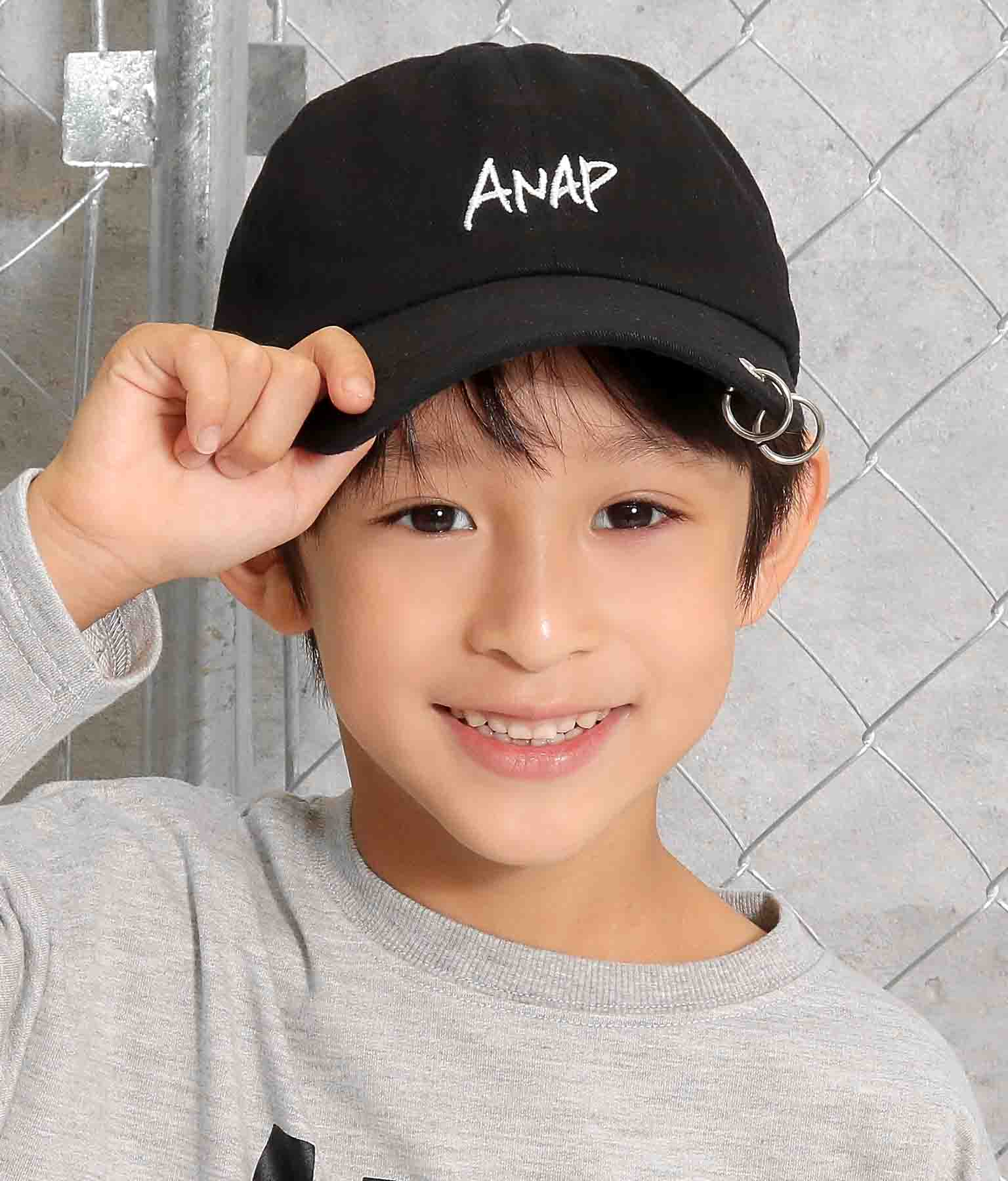ツイルワッペンリング付キャップ(ファッション雑貨/ハット・キャップ・ニット帽 ・キャスケット・ベレー帽) | ANAP KIDS
