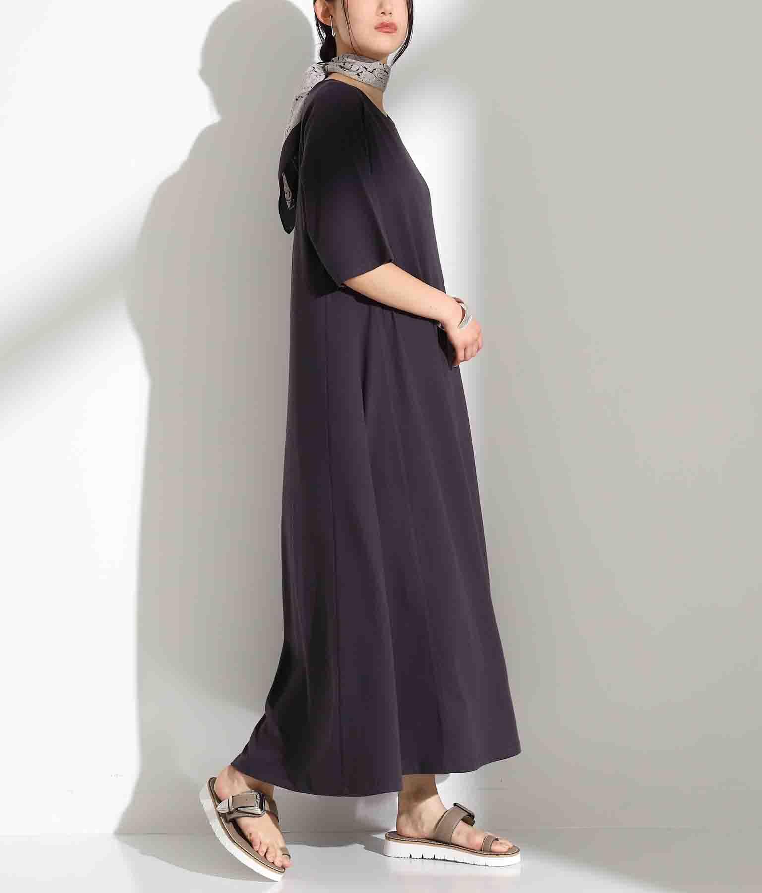 Aラインオーガニックコットンワンピース(ワンピース・ドレス/ロングワンピ) | Alluge
