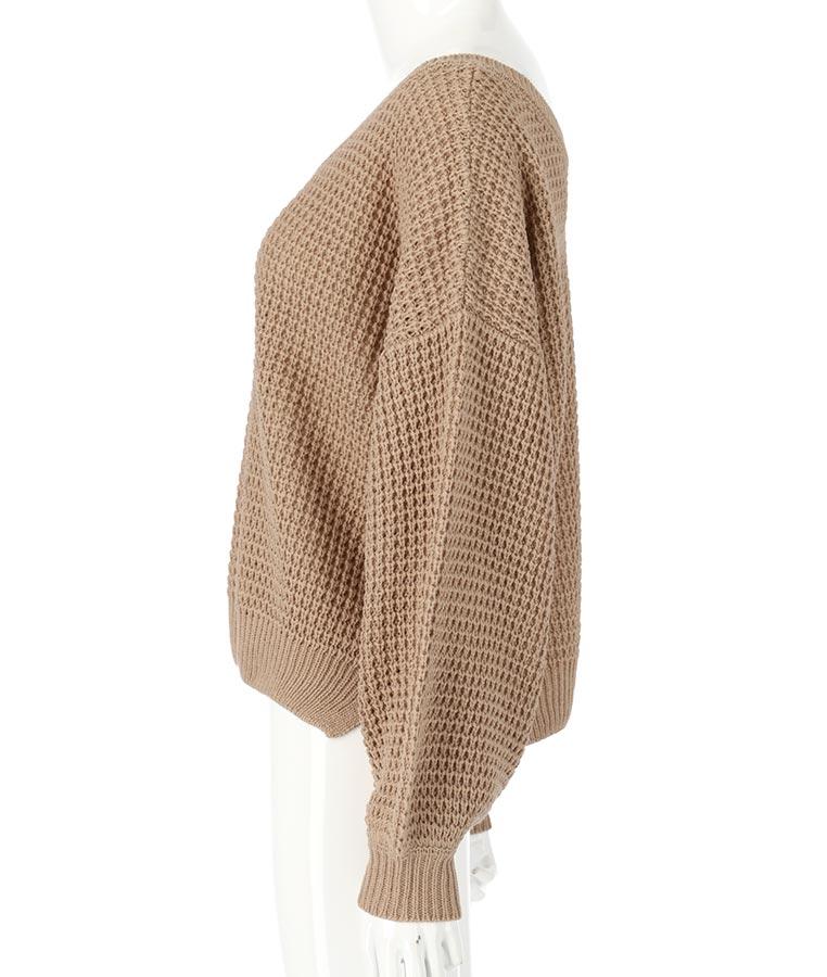 ボリューム袖ワッフル編みニットトップス | anap mimpi