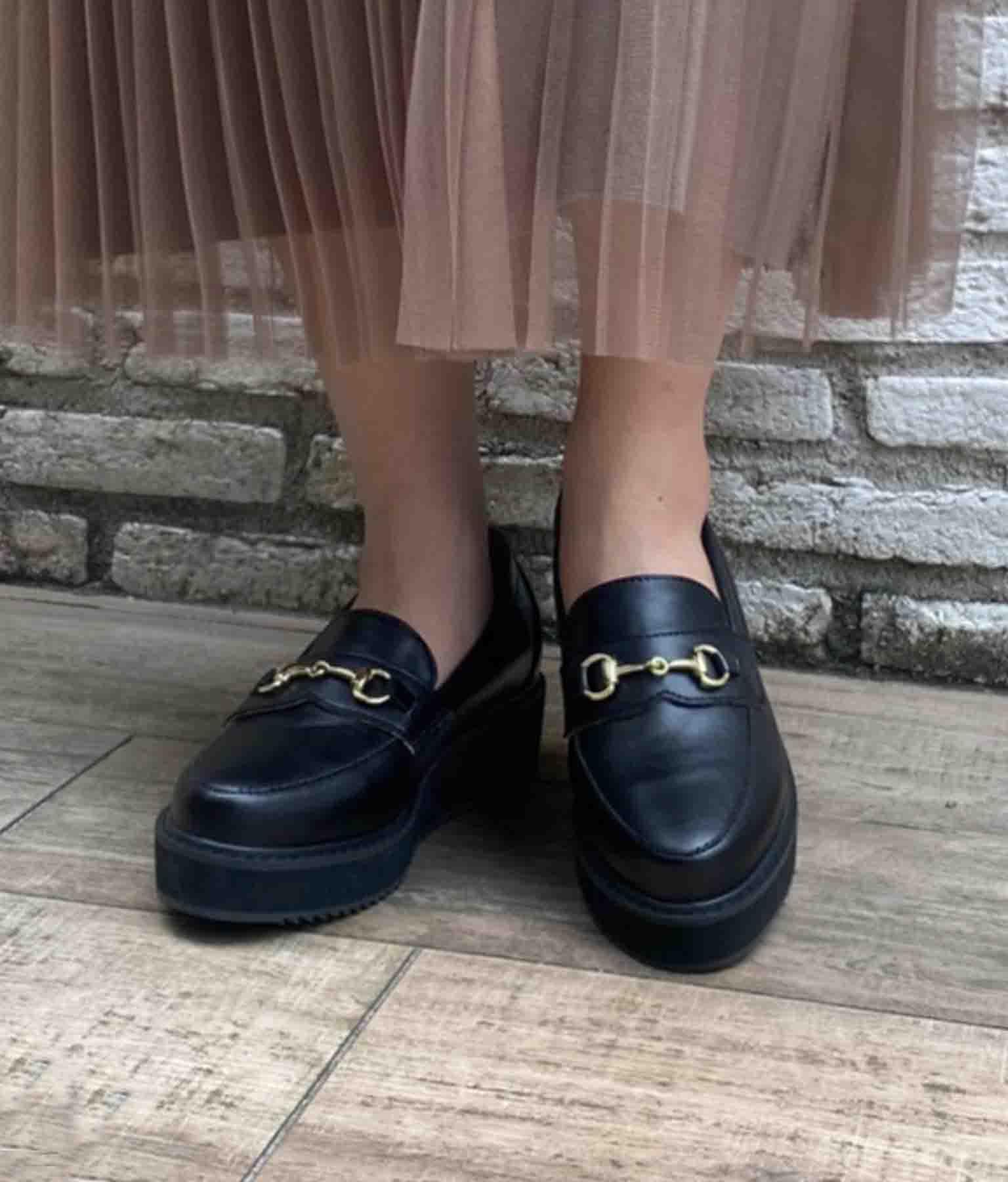 ビット付き厚底ローファー(シューズ・靴/パンプス) | CHILLE