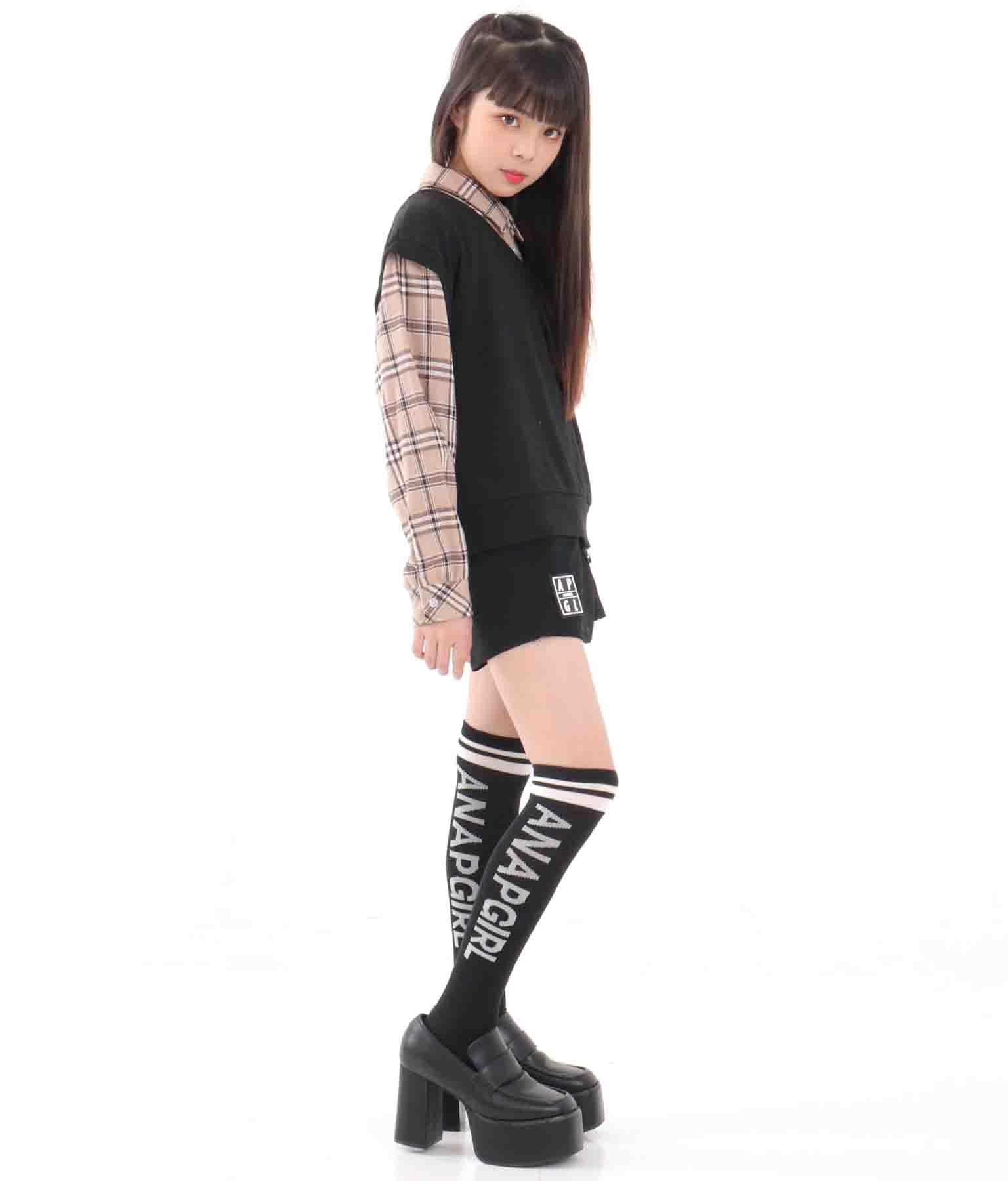 ライン入りハイソックス(ファッション雑貨/ソックス・靴下) | ANAP GiRL