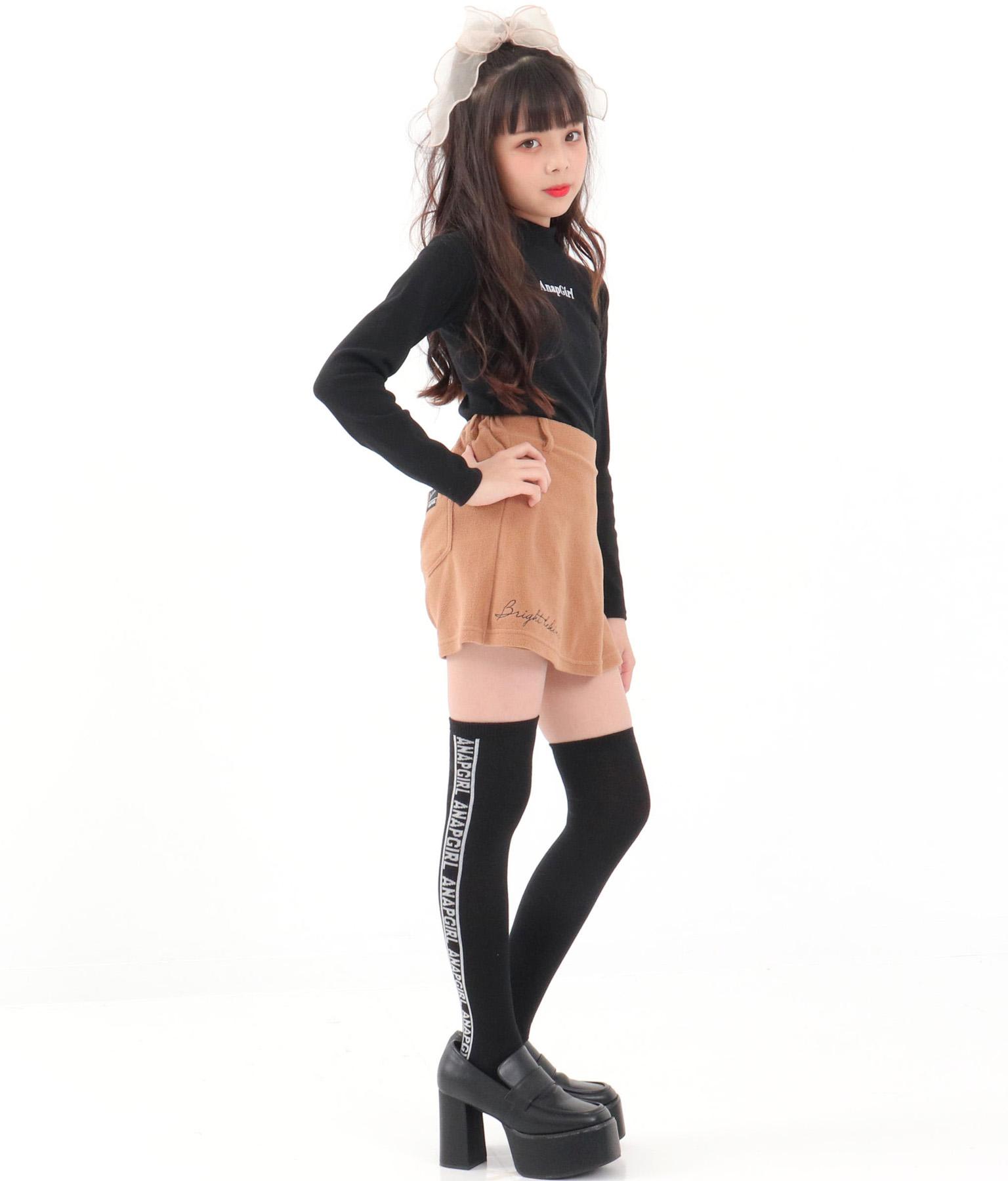 ラインロゴニーハイソックス(ファッション雑貨/ソックス・靴下) | ANAP GiRL