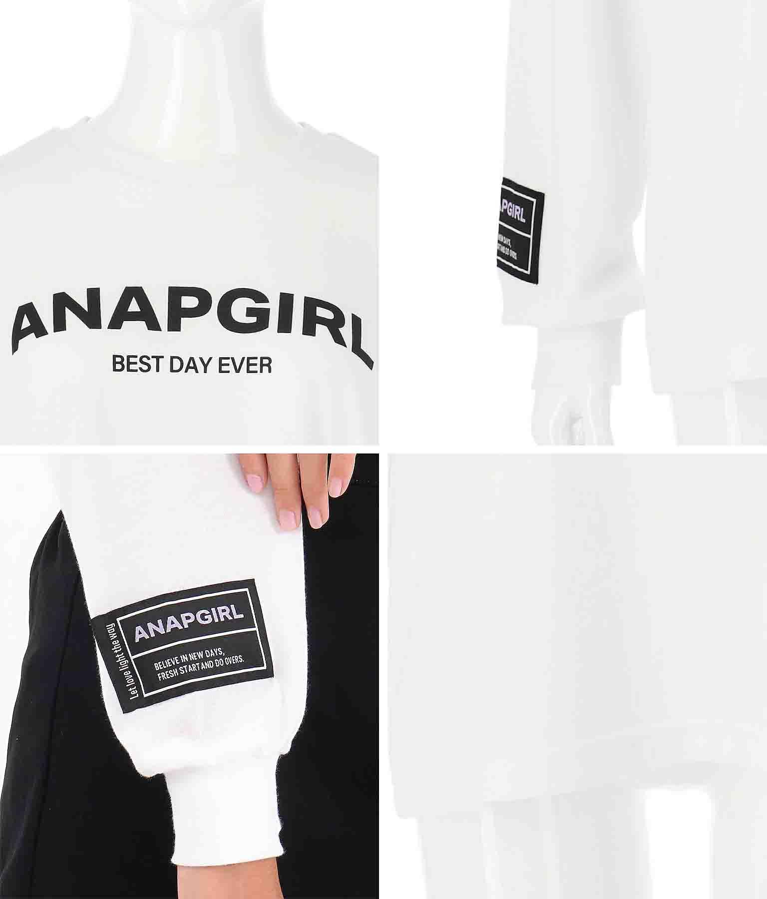 シンプルロゴチケット付ロンT | ANAP GiRL