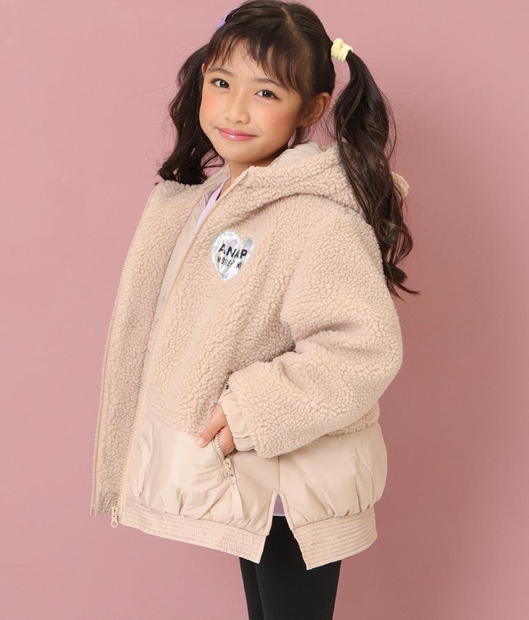 クマ耳シープボア中綿コート(アウター(コート・ジャケット) /ボアジャケット) | ANAP KIDS