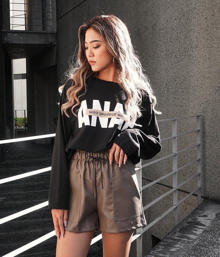 ANAPロゴミニ裏毛ロングTシャツ | ANAP