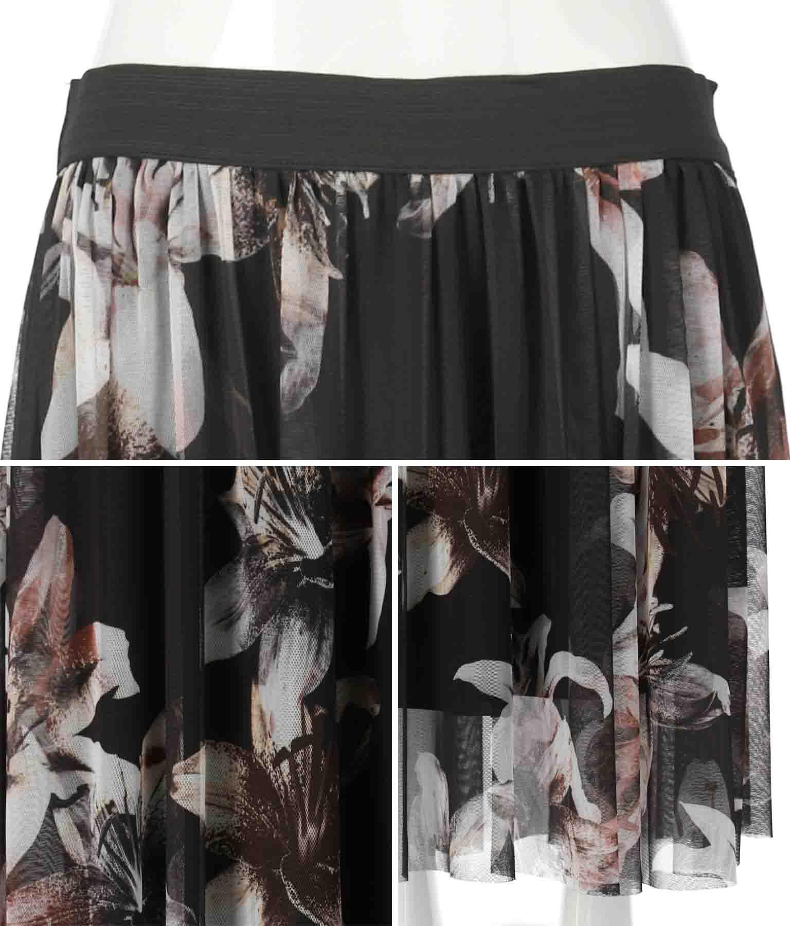 フラワープリントチュールスカート(ボトムス・パンツ /スカート) | Settimissimo