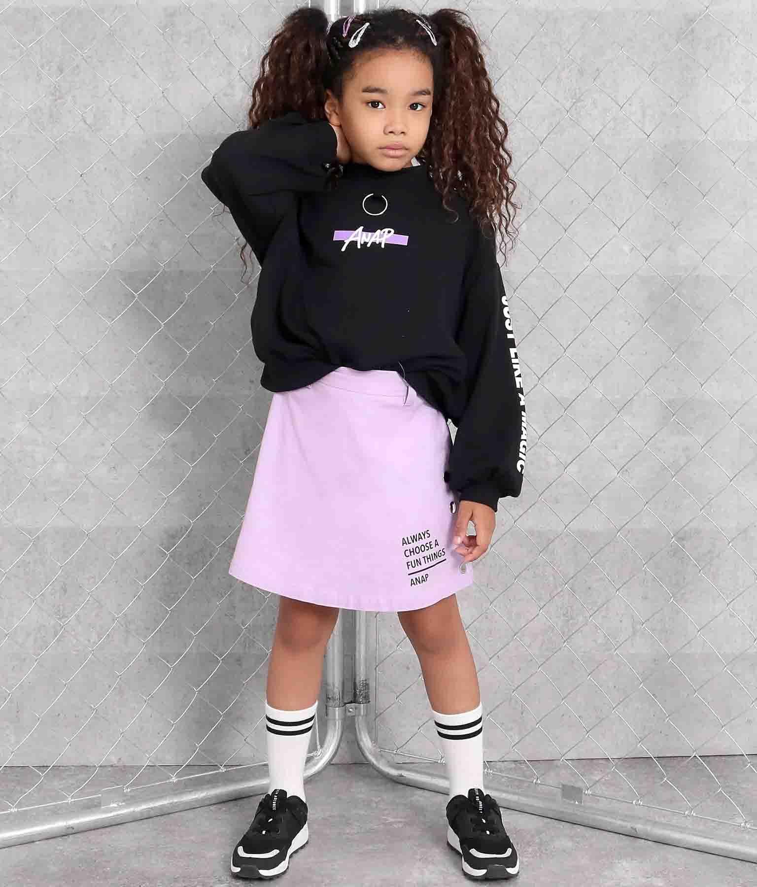 サイドボタンインパン付きスカート(ボトムス・パンツ /スカート) | ANAP KIDS