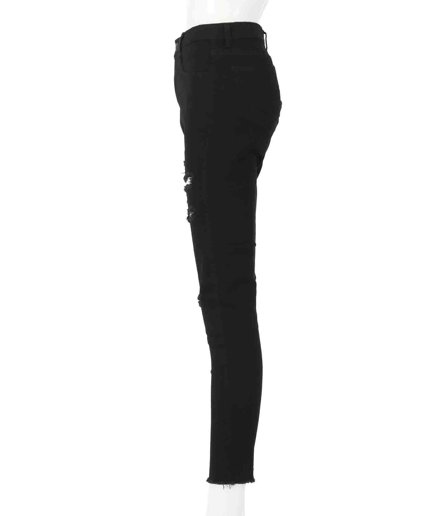 スラッシュダメージストレッチブラックパンツ(ボトムス・パンツ /ロングパンツ) | anap Latina