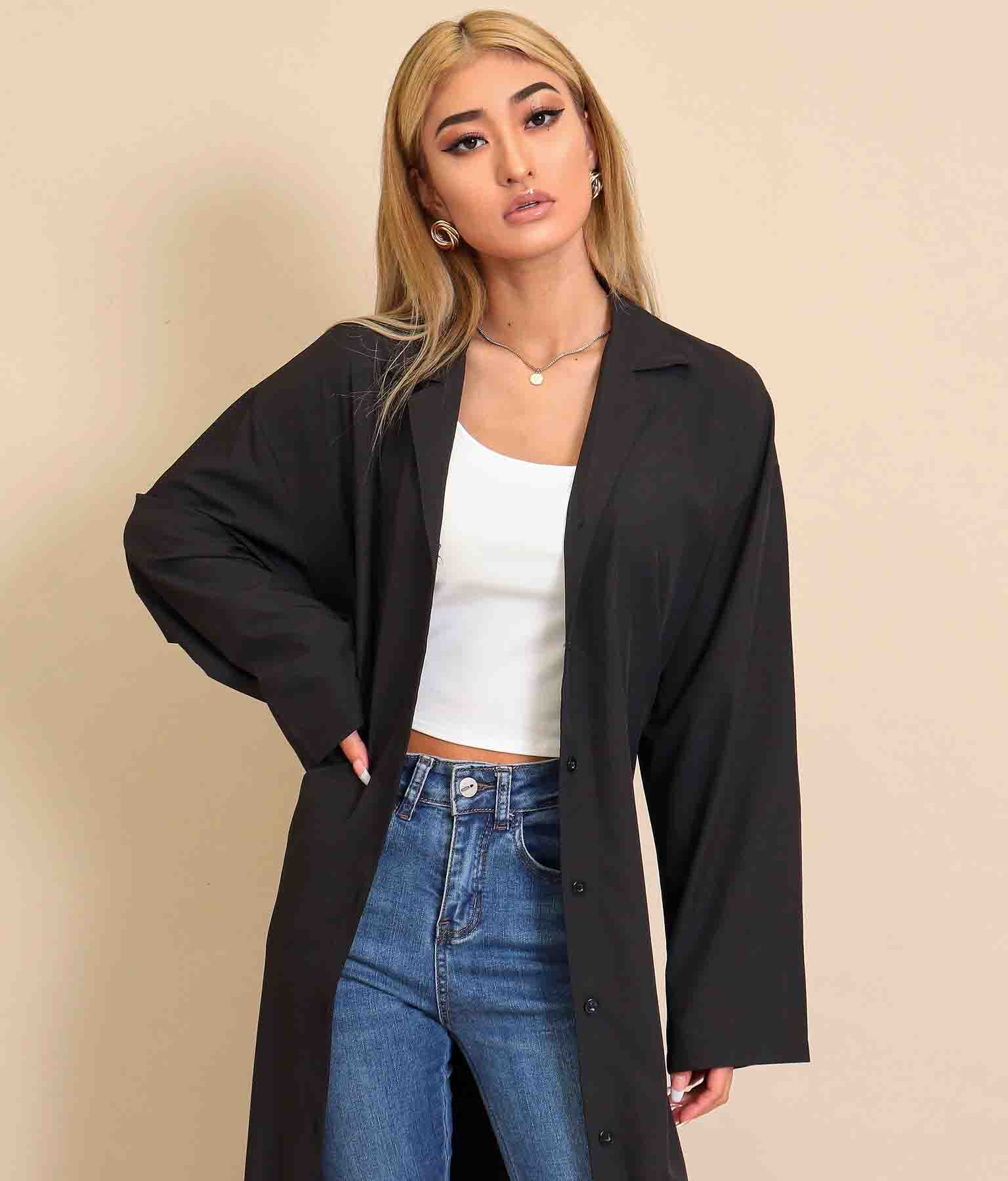 ウエストリボンロングシャツジャケット(アウター(コート・ジャケット) /ジャケット・ブルゾン) | anap Latina