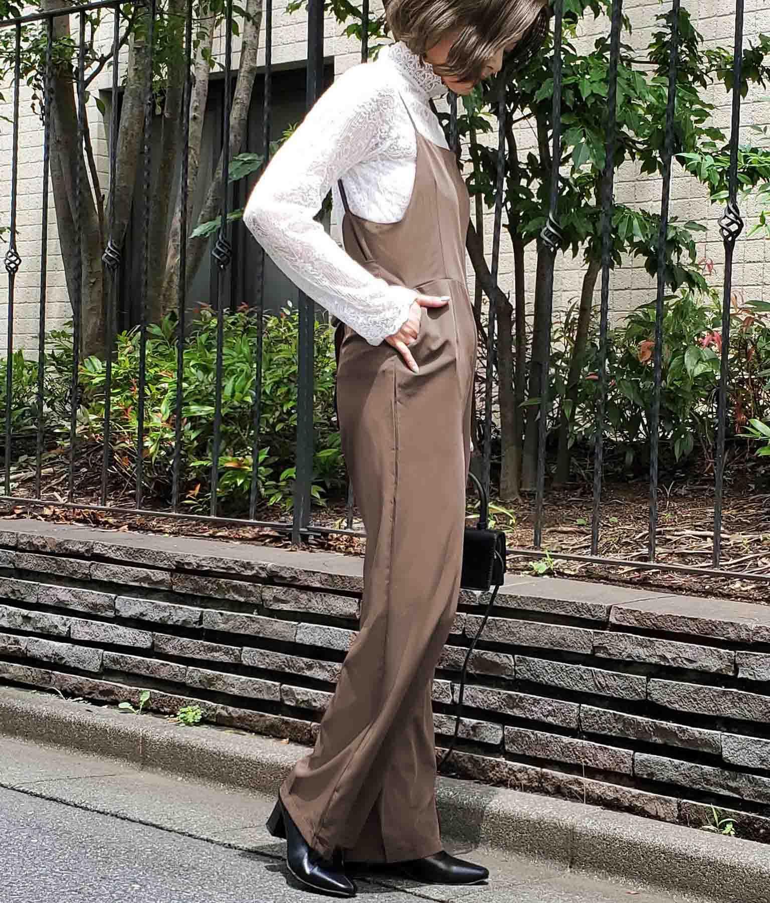 バックリボンデザインオールインワン(ワンピース・ドレス/サロペット/オールインワン)   CHILLE