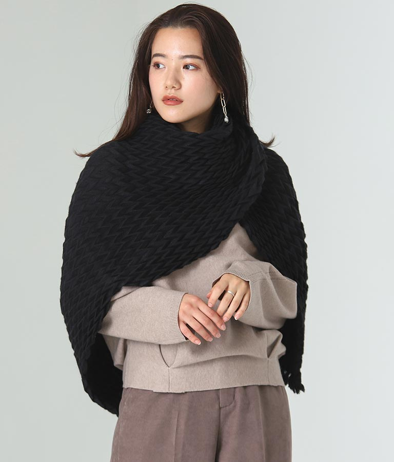 プリーツストール(ファッション雑貨/マフラー・ストール ・スヌード・スカーフ ) | Alluge