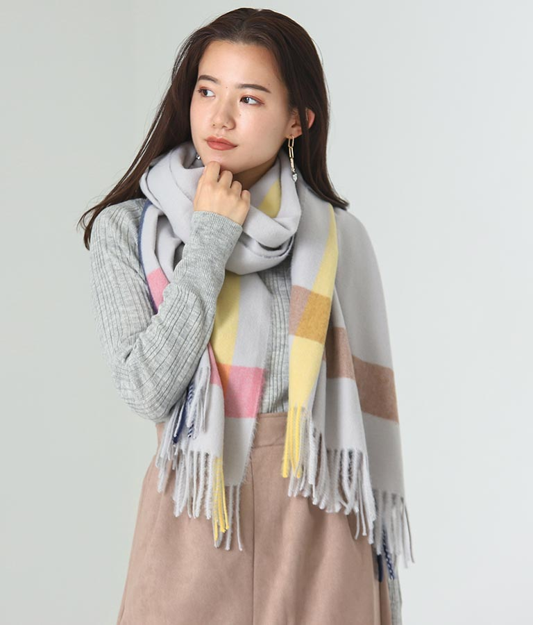 リサイクルチェックマフラー(ファッション雑貨/マフラー・ストール ・スヌード・スカーフ ) | Alluge