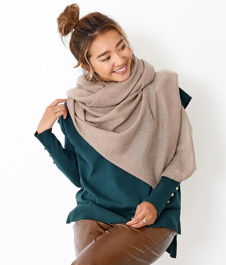 ガーゼライクストール(ファッション雑貨/マフラー・ストール ・スヌード・スカーフ ) | Alluge