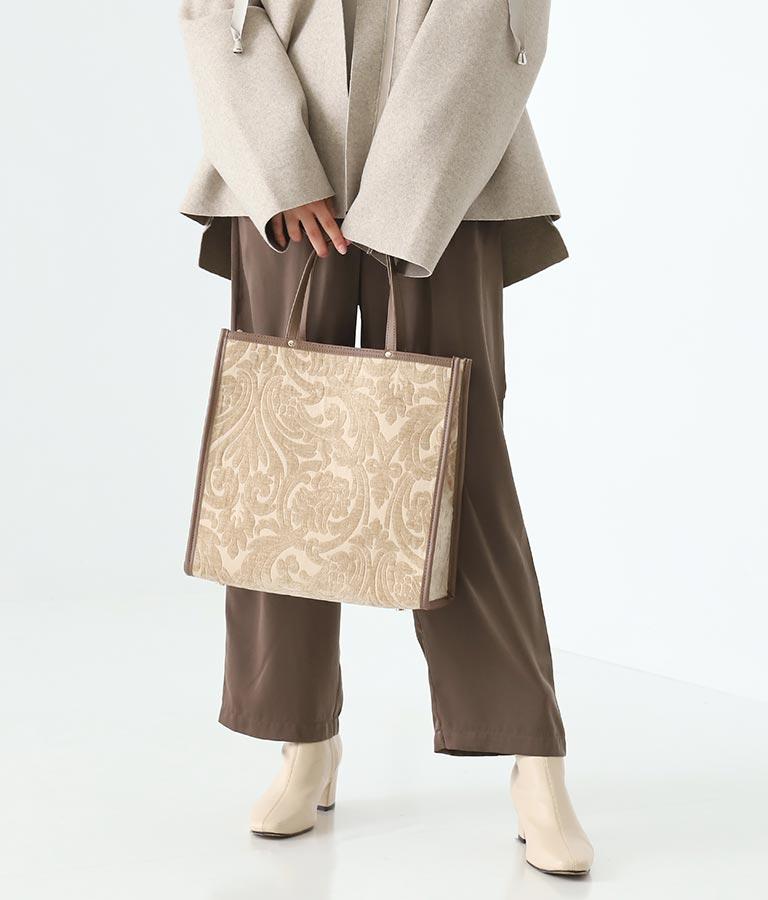 ヴィンテージライクファブリックトートバッグ(バッグ・鞄・小物/ハンドバッグ・トートバッグ) | Alluge