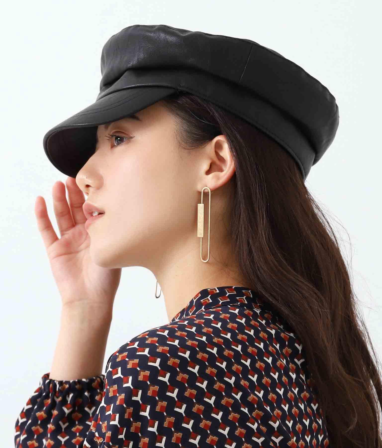 エコレザーマリンキャスケット(ファッション雑貨/ハット・キャップ・ニット帽 ・キャスケット・ベレー帽) | Alluge