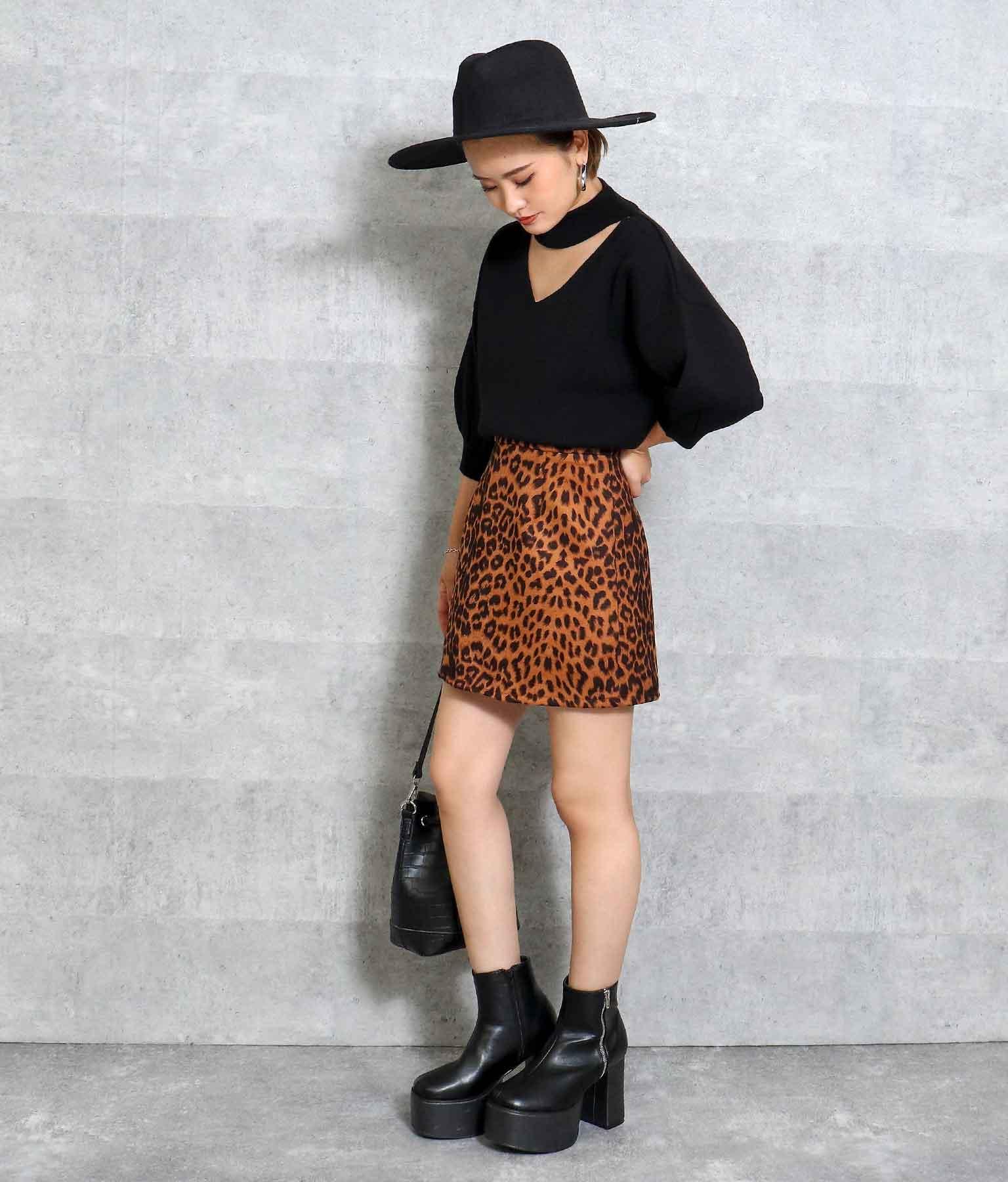レオパードミニスカート(ボトムス・パンツ /スカート)   ANAP
