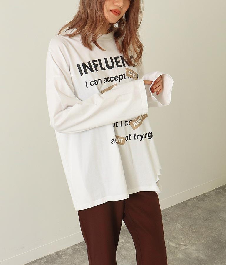 フロントプリントダメージロングTシャツ | ANAP
