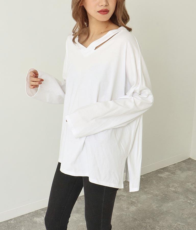 ショルダーデザインロングTシャツ | ANAP
