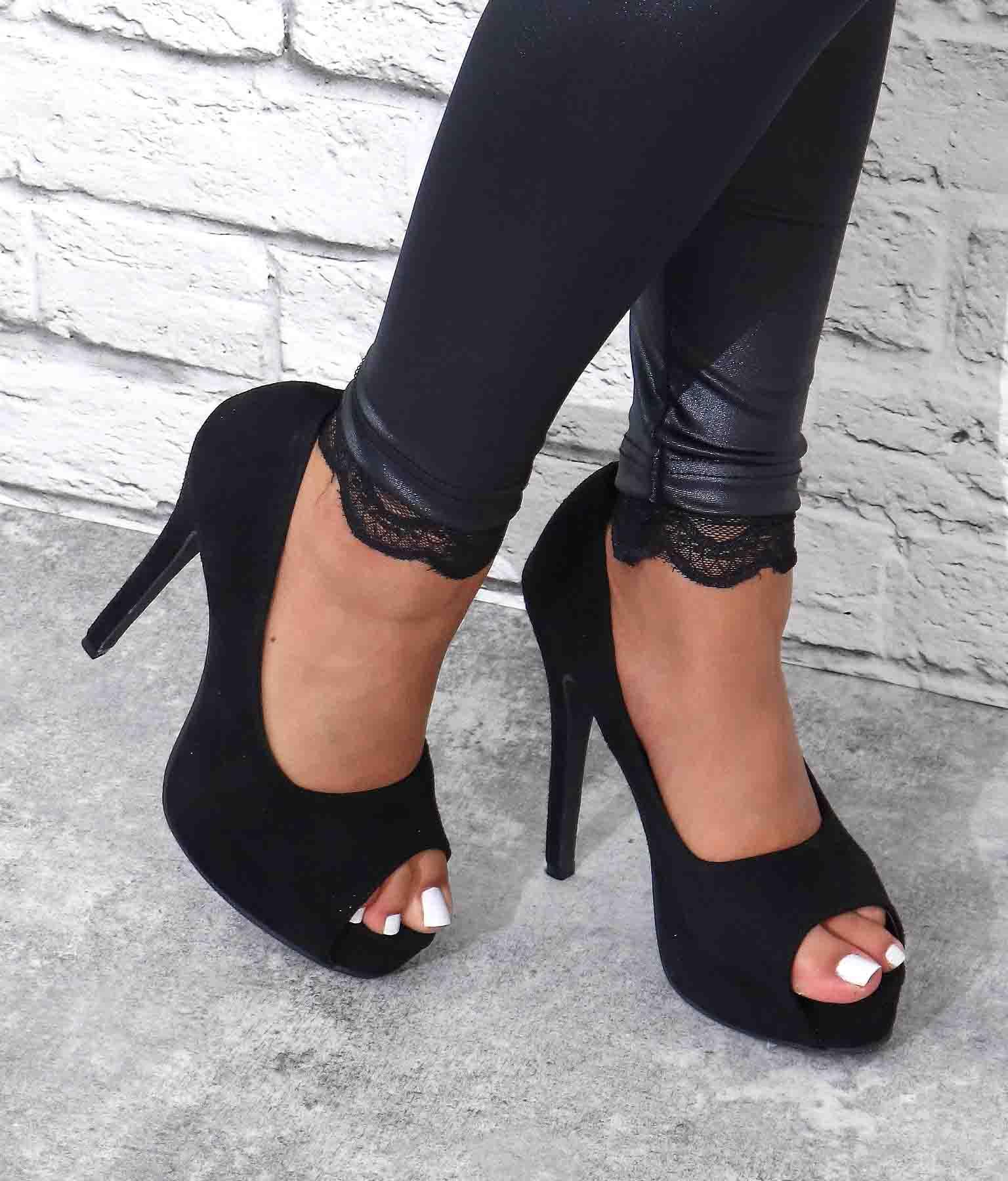 ダミースエードプラットフォームパンプス(シューズ・靴/パンプス)   anap Latina