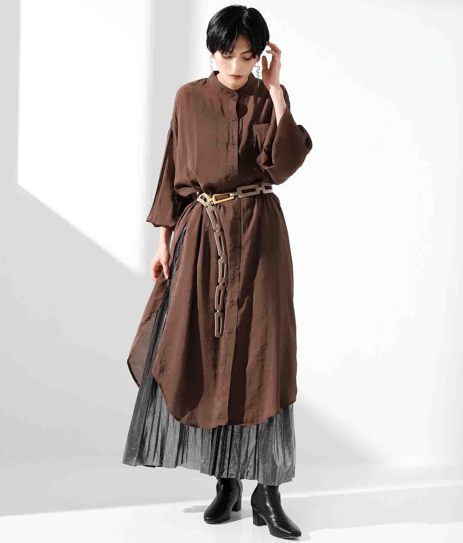 本革スクエアーコネクトデザインロングベルト(ファッション雑貨/ベルト) | Settimissimo