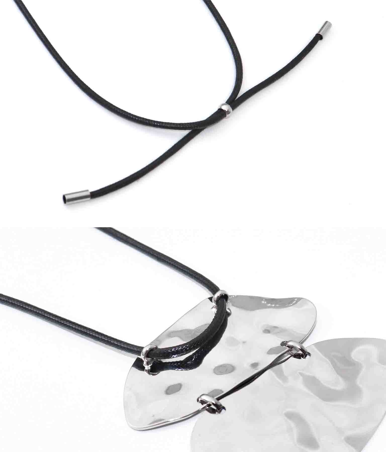 2メタルモチーフデザインネックレス(アクセサリー/ネックレス・ペンダント) | Settimissimo