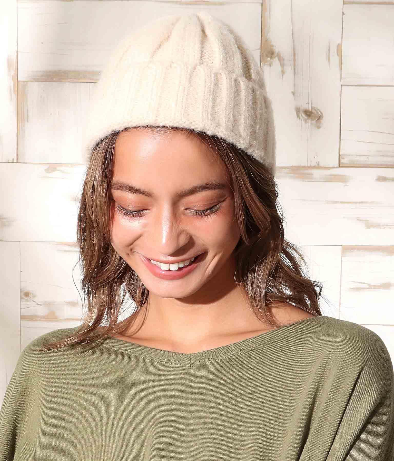 太リブニット帽(ファッション雑貨/ハット・キャップ・ニット帽 ・キャスケット・ベレー帽) | anap mimpi