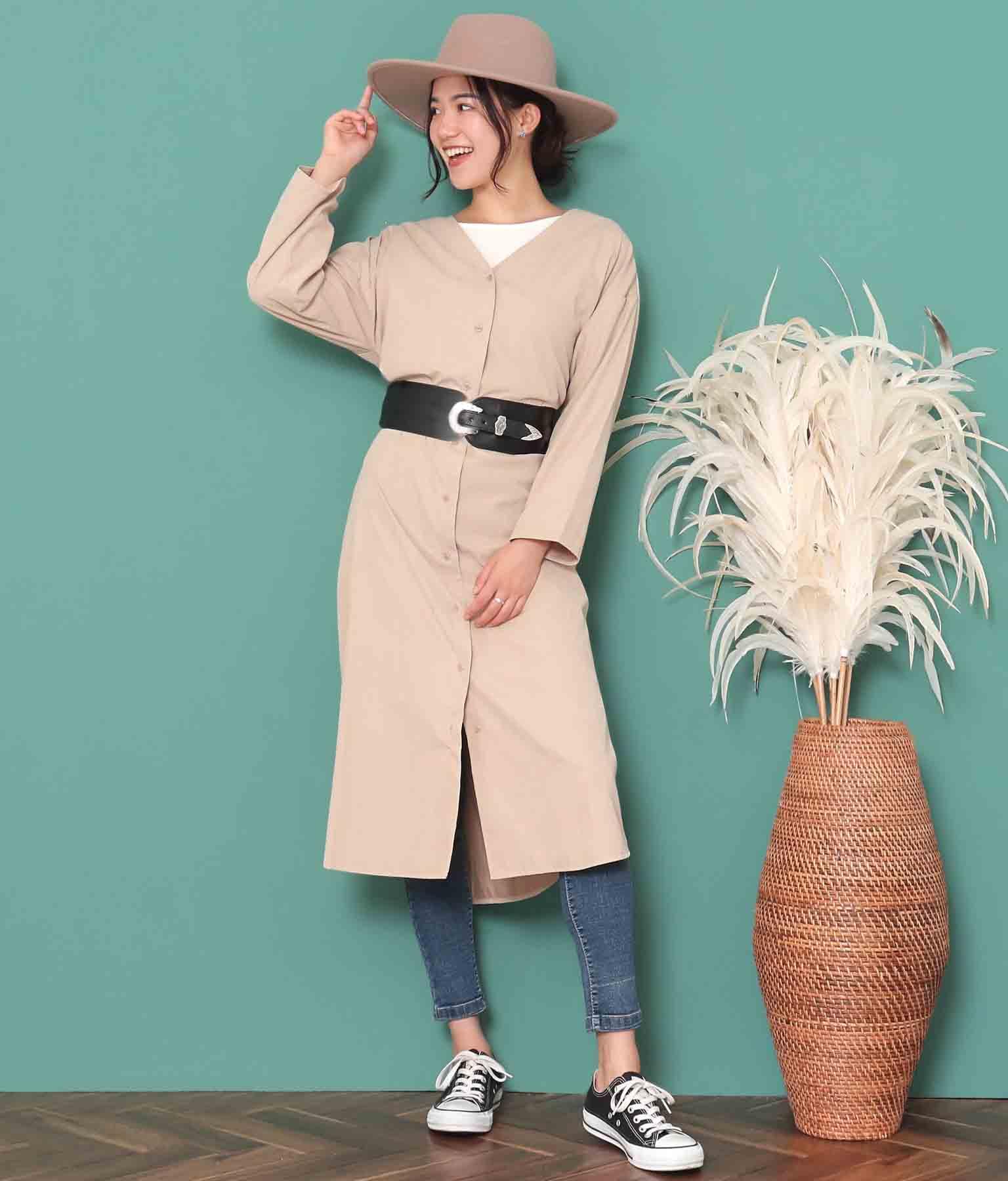 シルバーバックルワイドウエストベルト(ファッション雑貨/ベルト) | anap mimpi