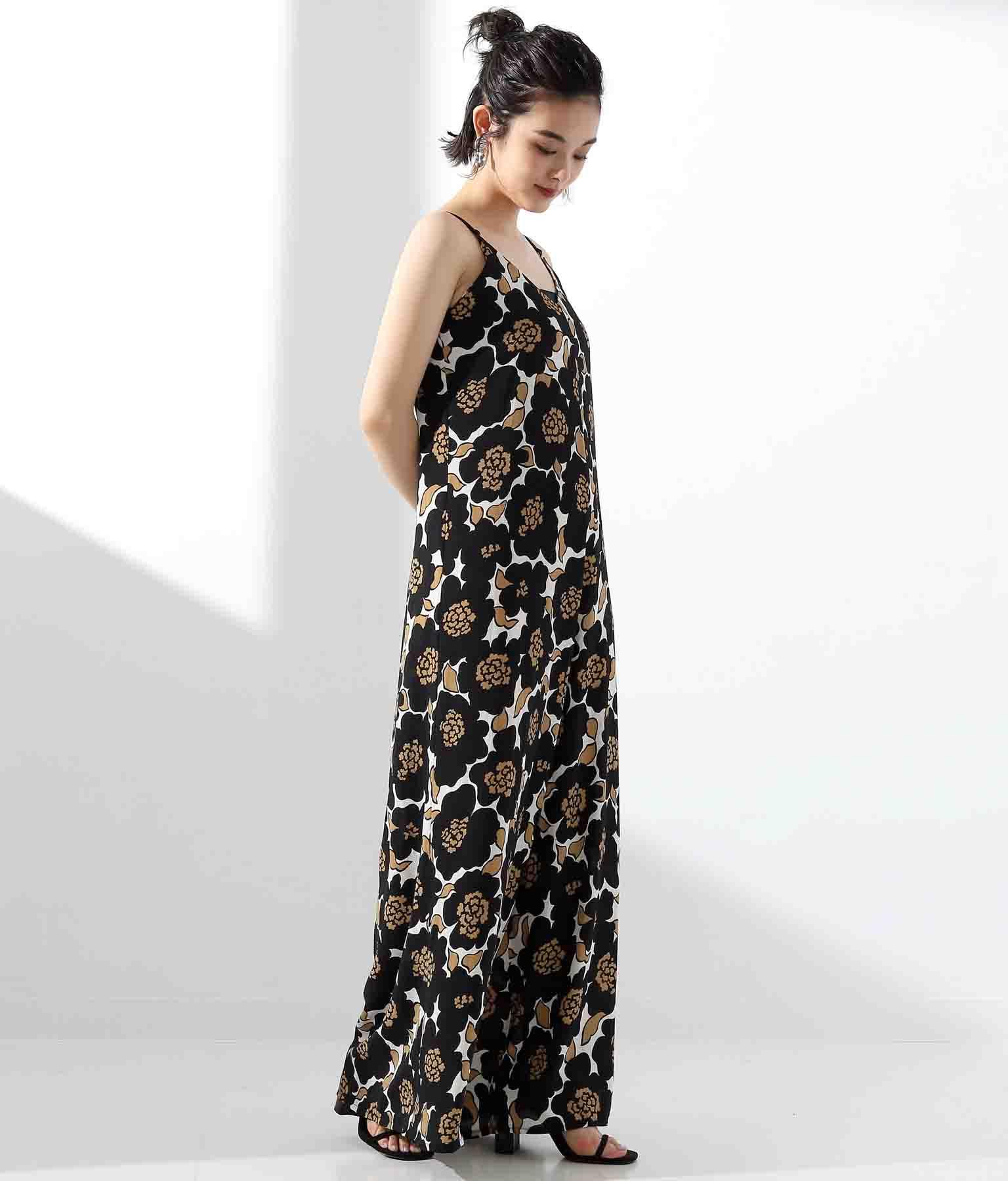 フラワープリントオールインワン(ワンピース・ドレス/サロペット/オールインワン) | Settimissimo