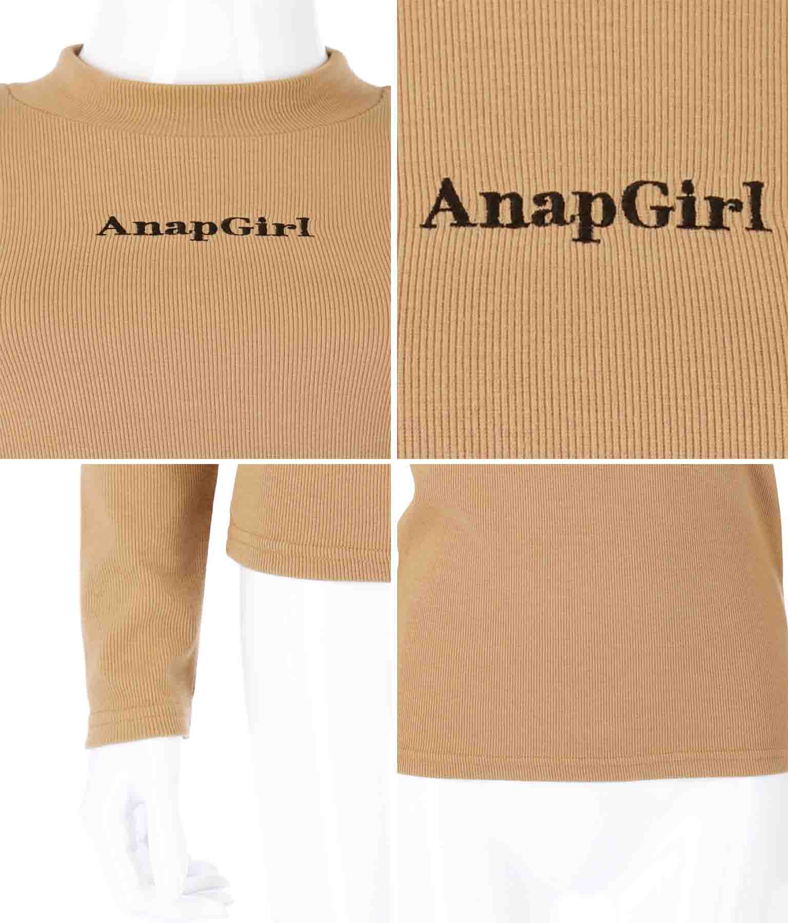 プチハイネックリブトップス(トップス/カットソー ) | ANAP GiRL