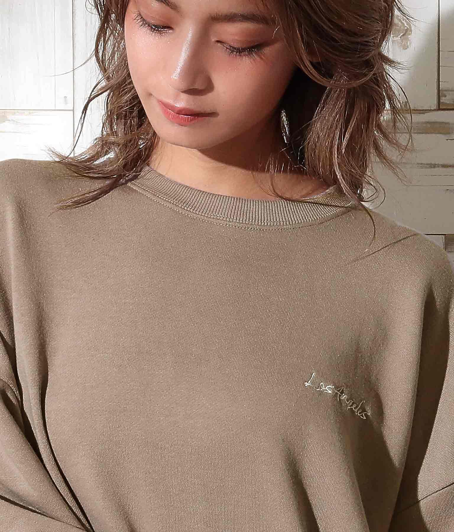 サガラ刺繍スウェットトップス | anap mimpi