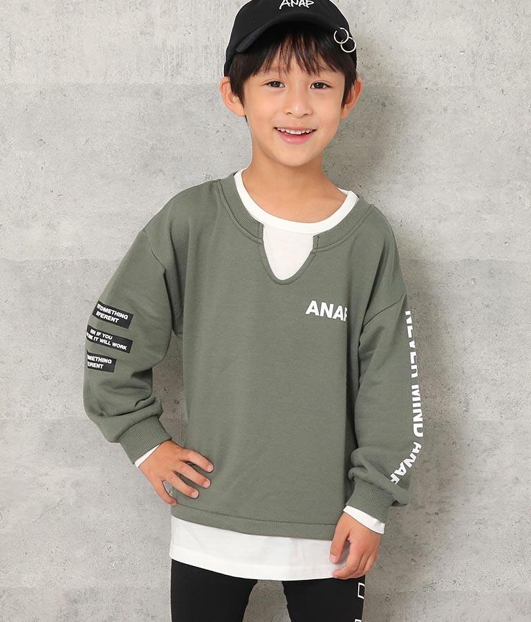 レイヤード風トレーナー(トップス/スウェット・トレーナー)   ANAP KIDS