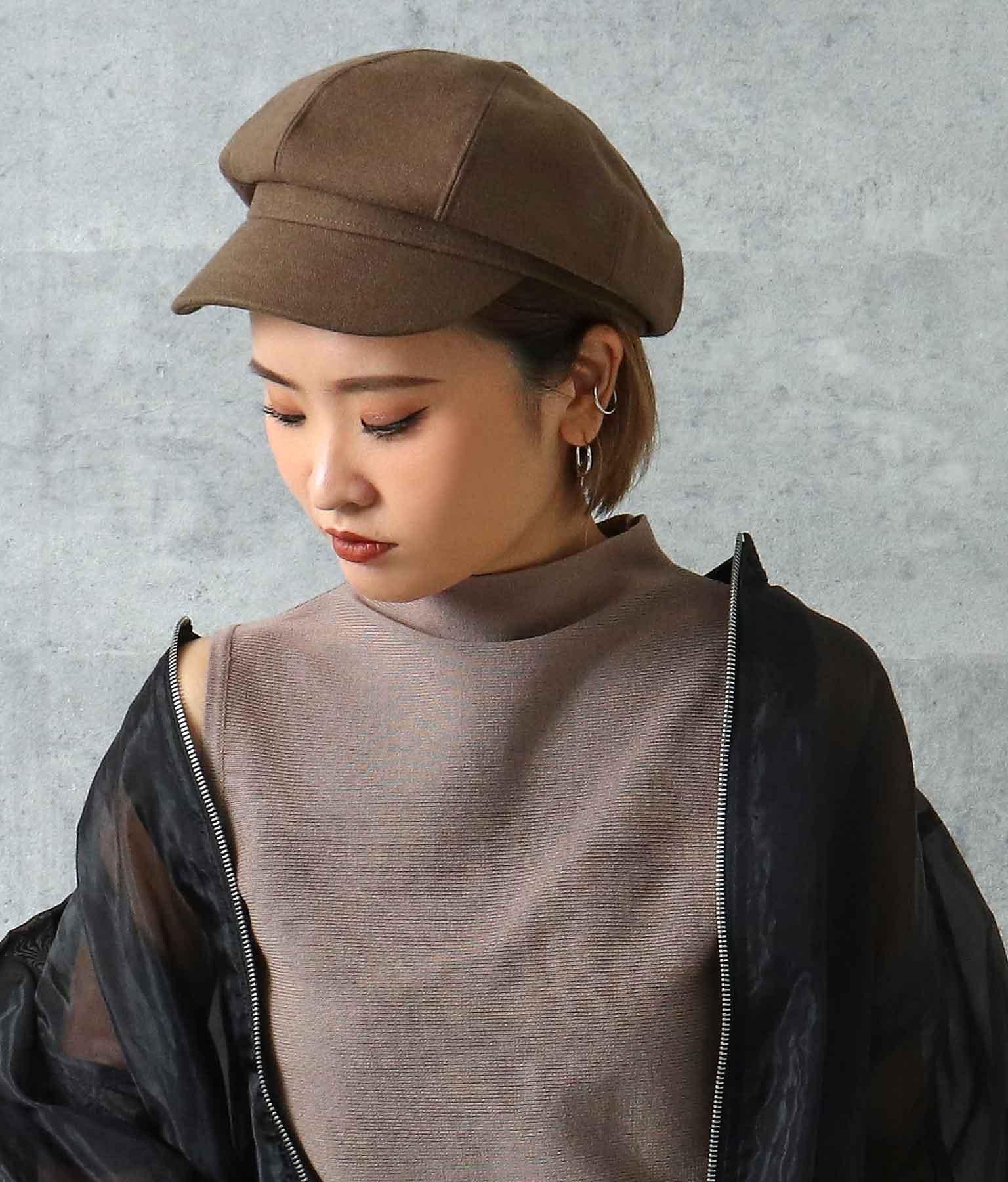 シンプルキャスケット(ファッション雑貨/ハット・キャップ・ニット帽 ・キャスケット・ベレー帽) | ANAP