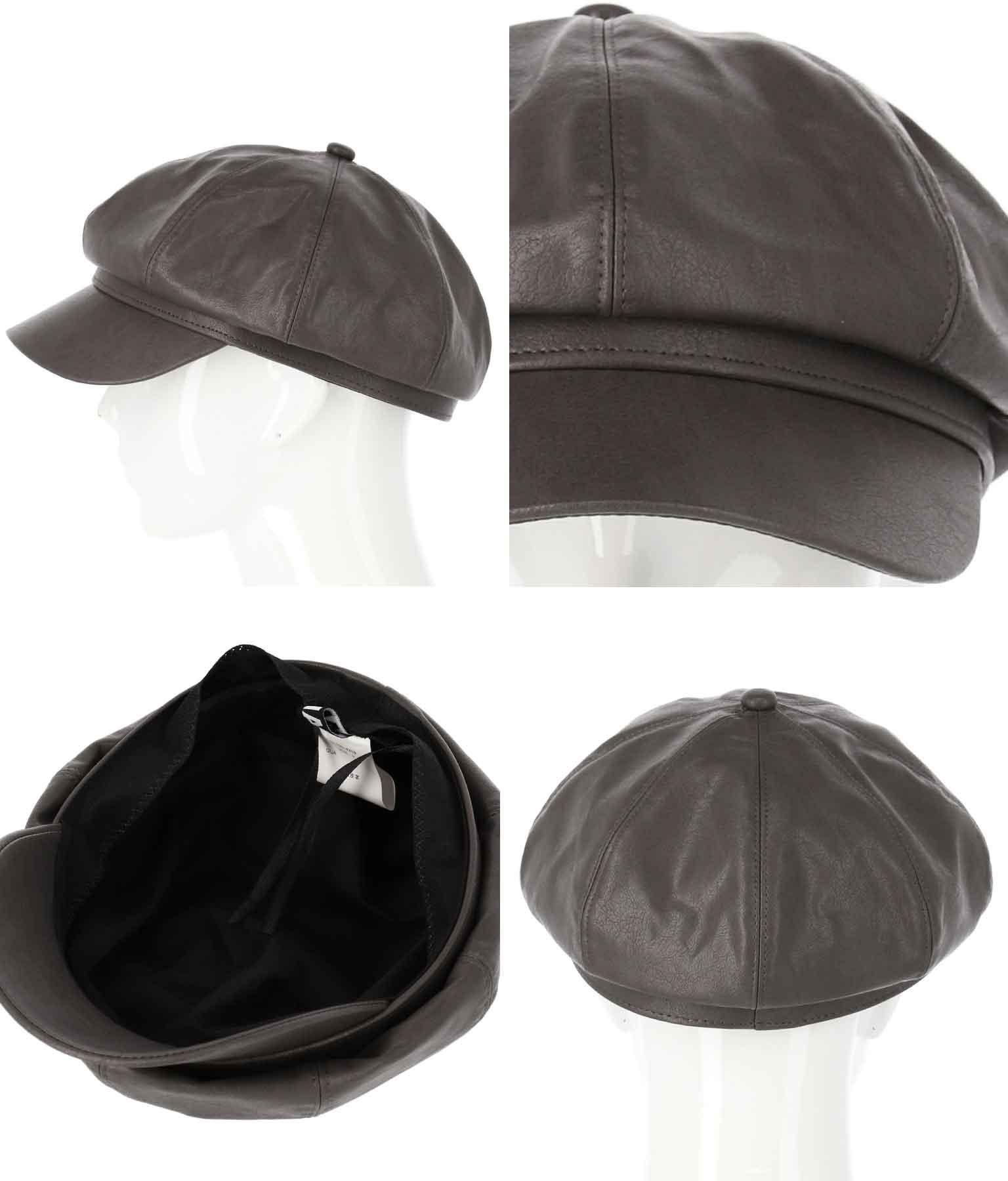 レザーライクキャスケット(ファッション雑貨/ハット・キャップ・ニット帽 ・キャスケット・ベレー帽)   ANAP