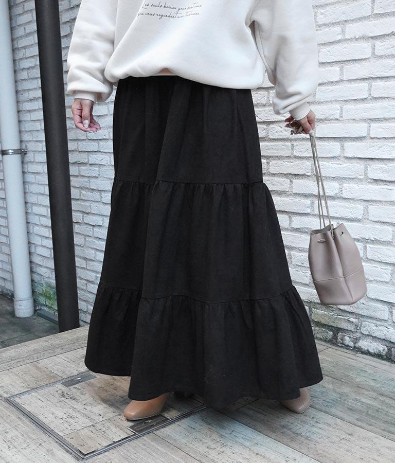 スウェード風ティアードスカート(ボトムス・パンツ /スカート)   CHILLE