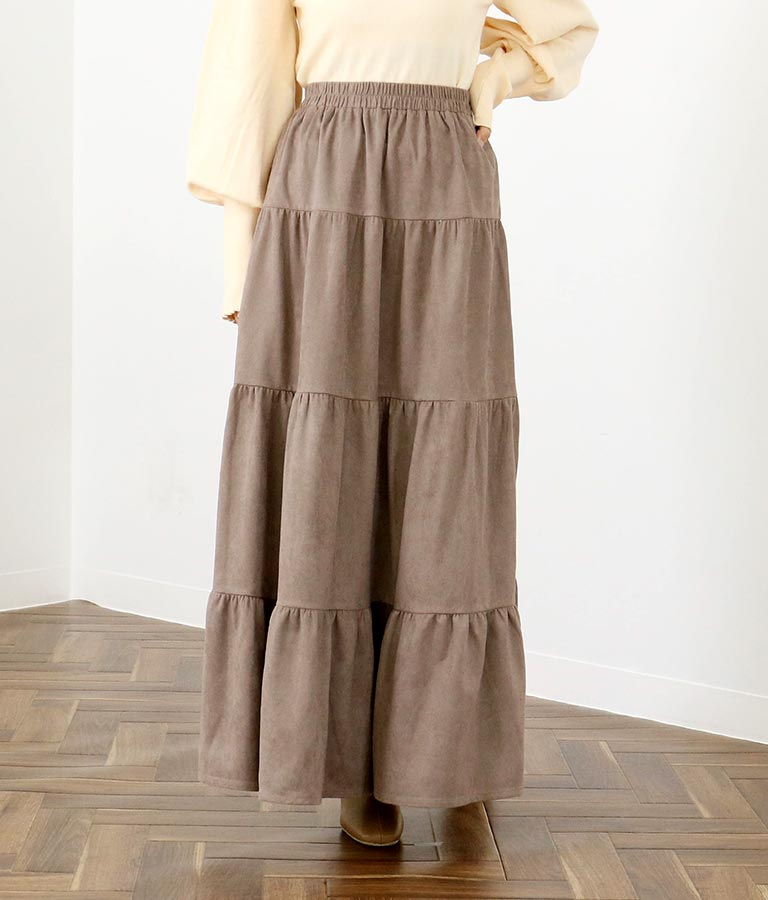 スウェード風ティアードスカート(ボトムス・パンツ /スカート) | CHILLE