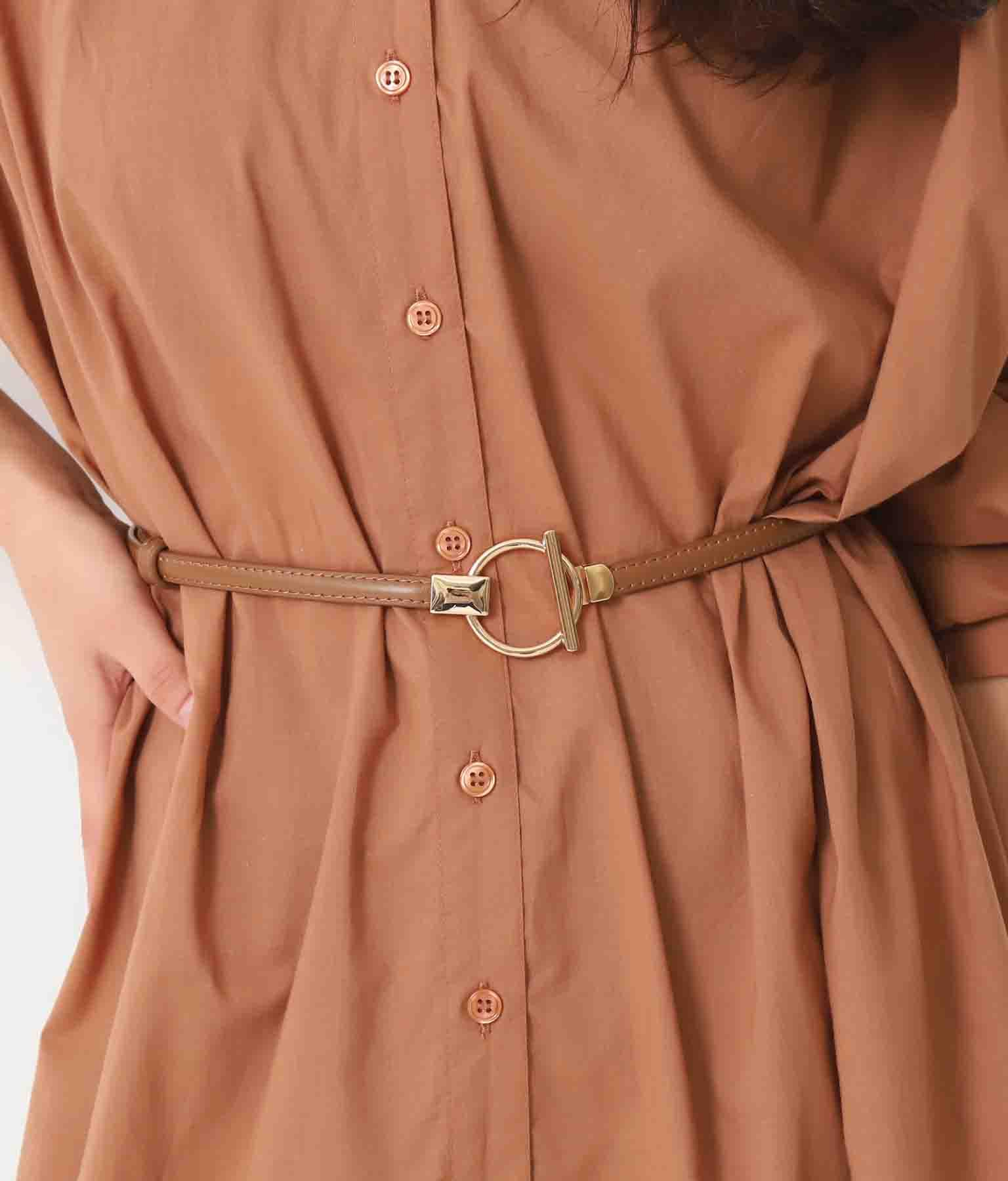 リングデザイン細ベルト(ファッション雑貨/ベルト) | Alluge