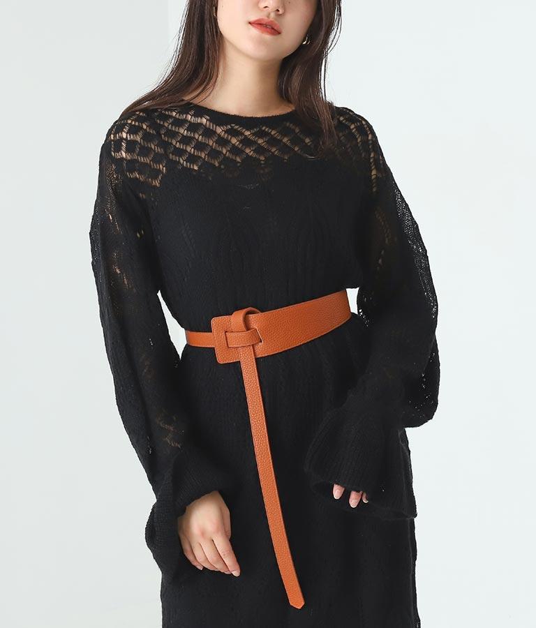 ノットデザインワイドベルト(ファッション雑貨/ベルト) | Alluge