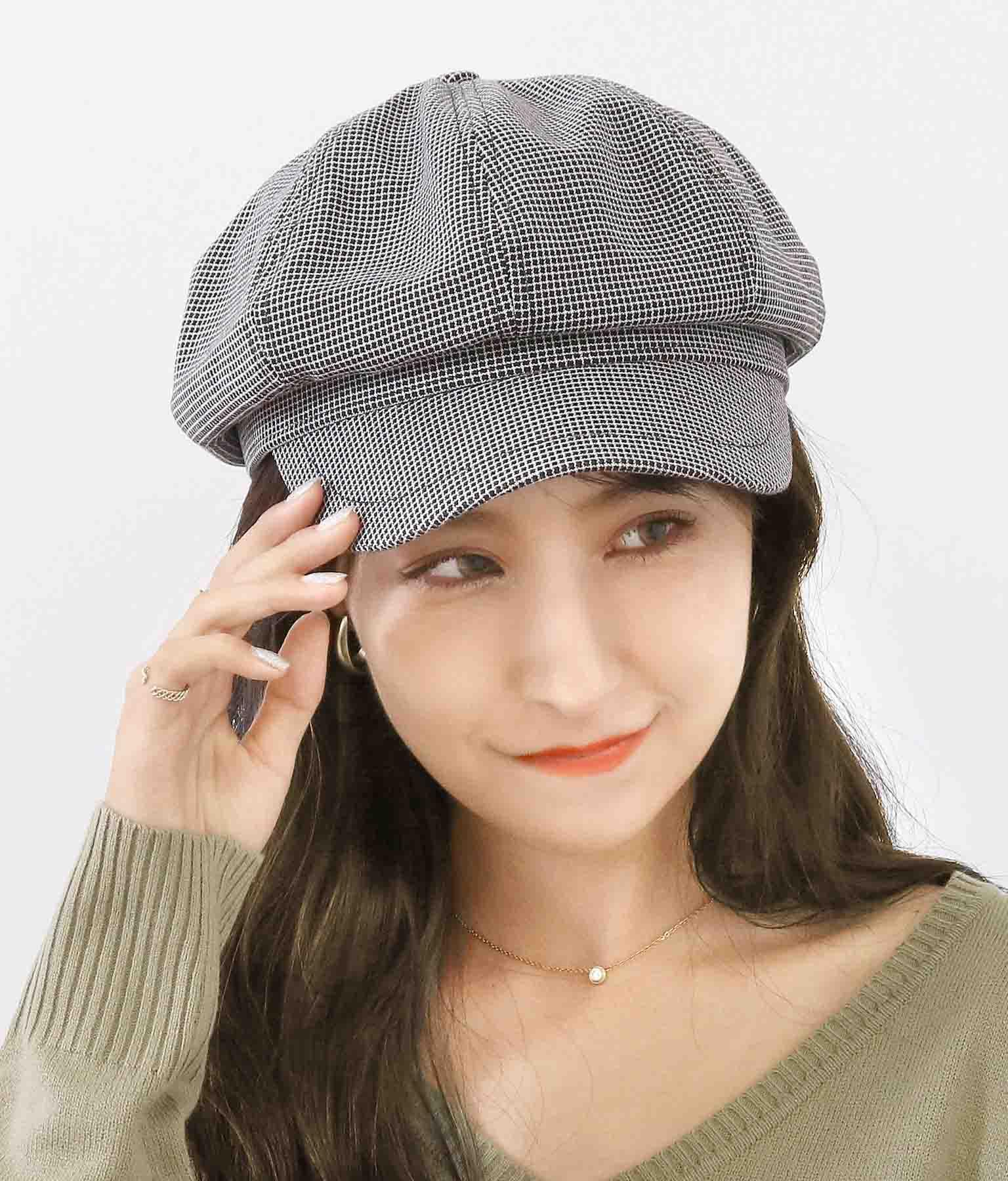 チェック柄キャスケット(ファッション雑貨/ハット・キャップ・ニット帽 ・キャスケット・ベレー帽) | CHILLE