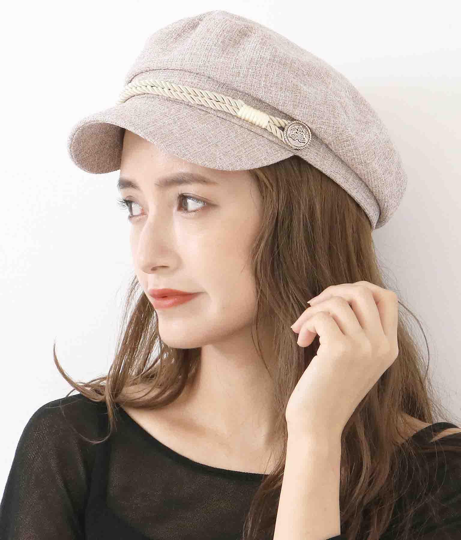 ミックスツイードマリンキャスケット(ファッション雑貨/ハット・キャップ・ニット帽 ・キャスケット・ベレー帽)   CHILLE
