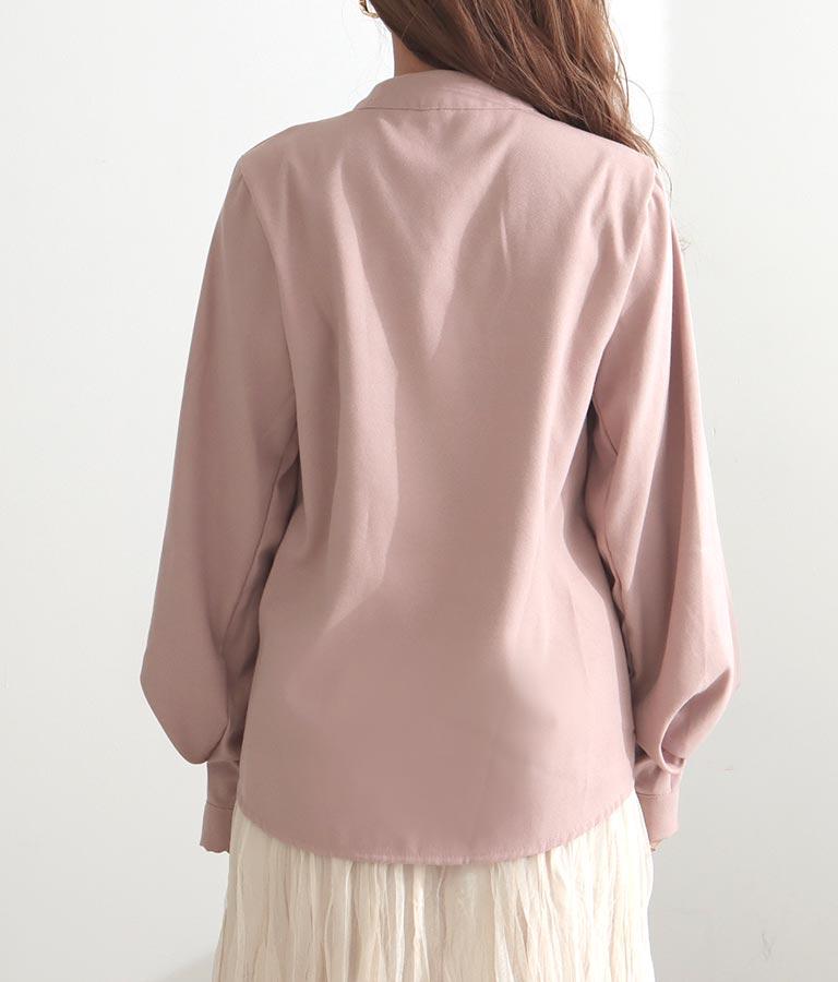 タック入ボリューム袖立ち襟ブラウス(トップス/シャツ・ブラウス) | CHILLE