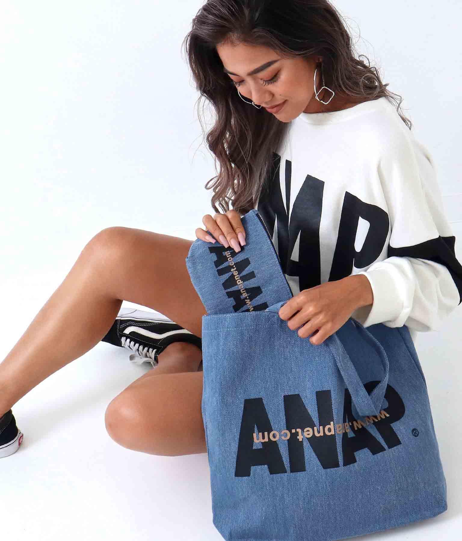 ANAPロゴデニム風ポーチ(ファッション雑貨/ポーチ) | ANAP