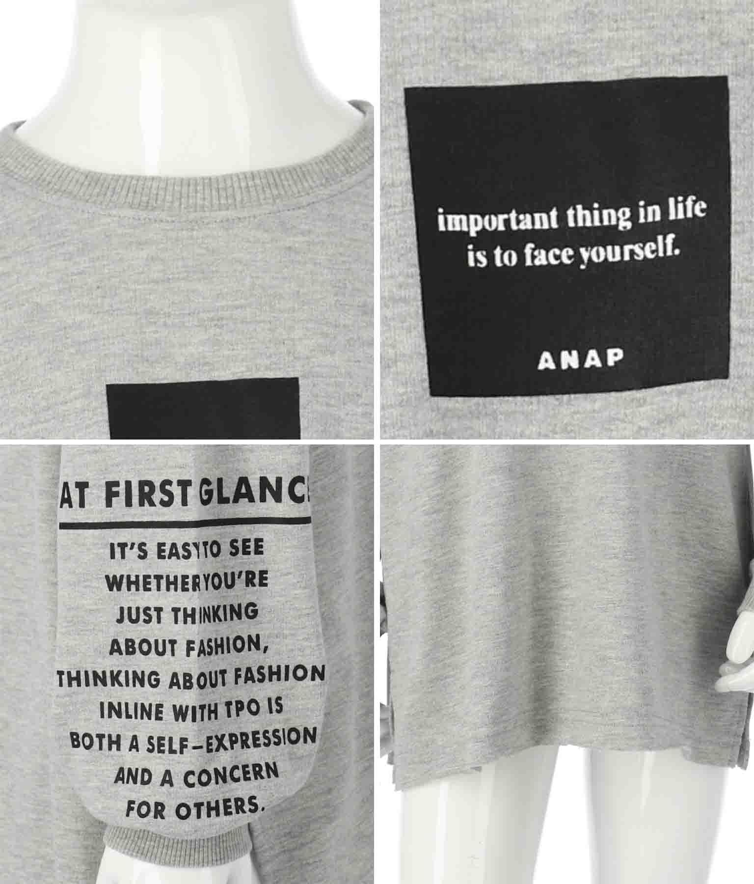 スリーブプリントカットオフトレーナー | ANAP KIDS