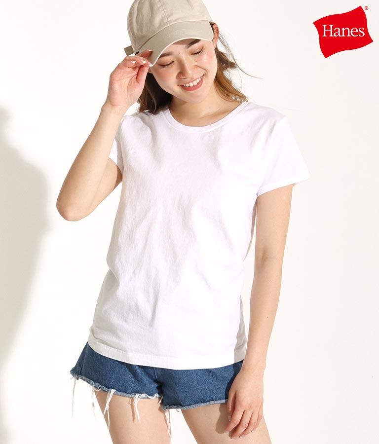Hanes 2P japan fit for her クルーネックTシャツ