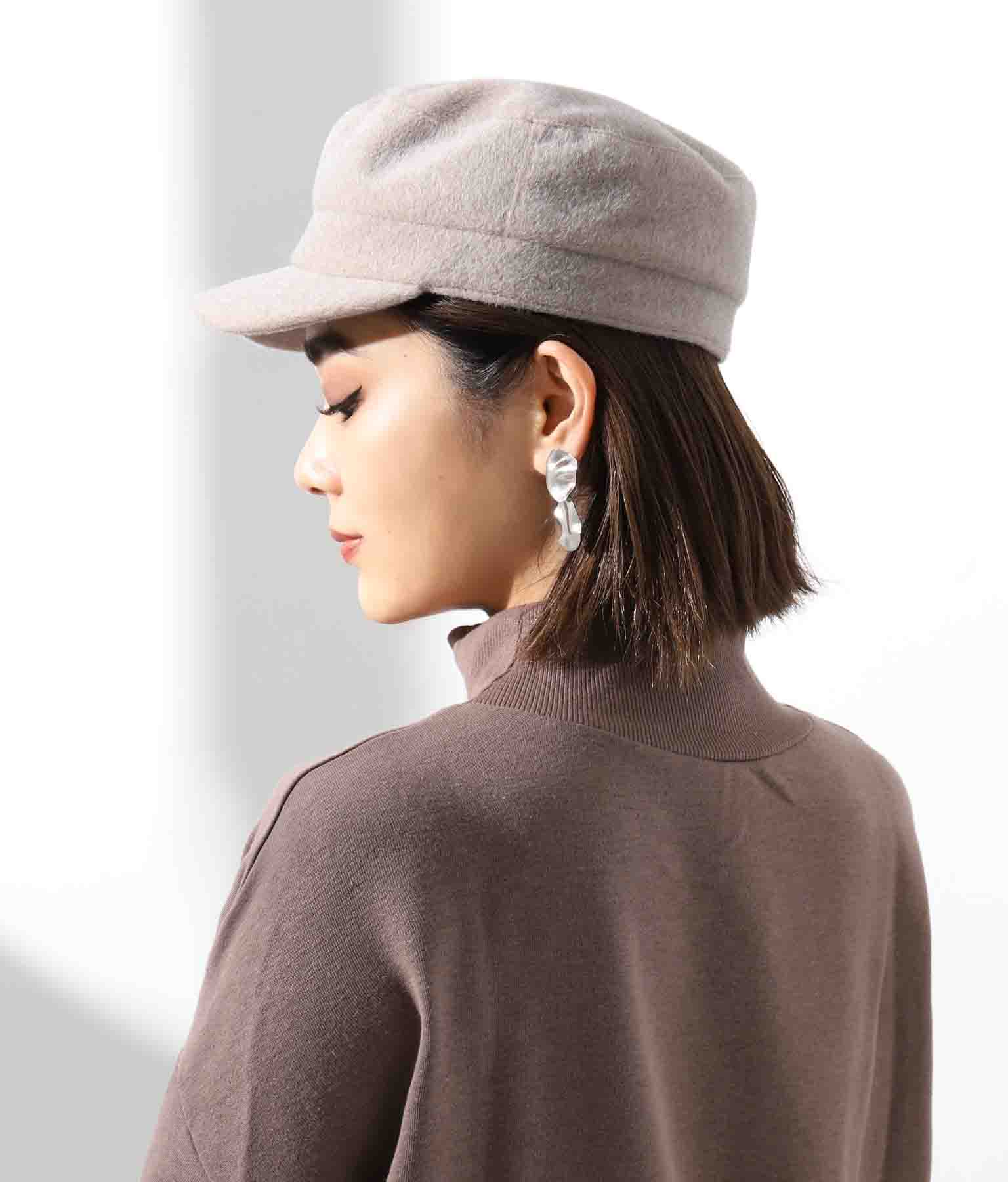 シャギーシンプルキャスケット(ファッション雑貨/ハット・キャップ・ニット帽 ・キャスケット・ベレー帽) | Settimissimo